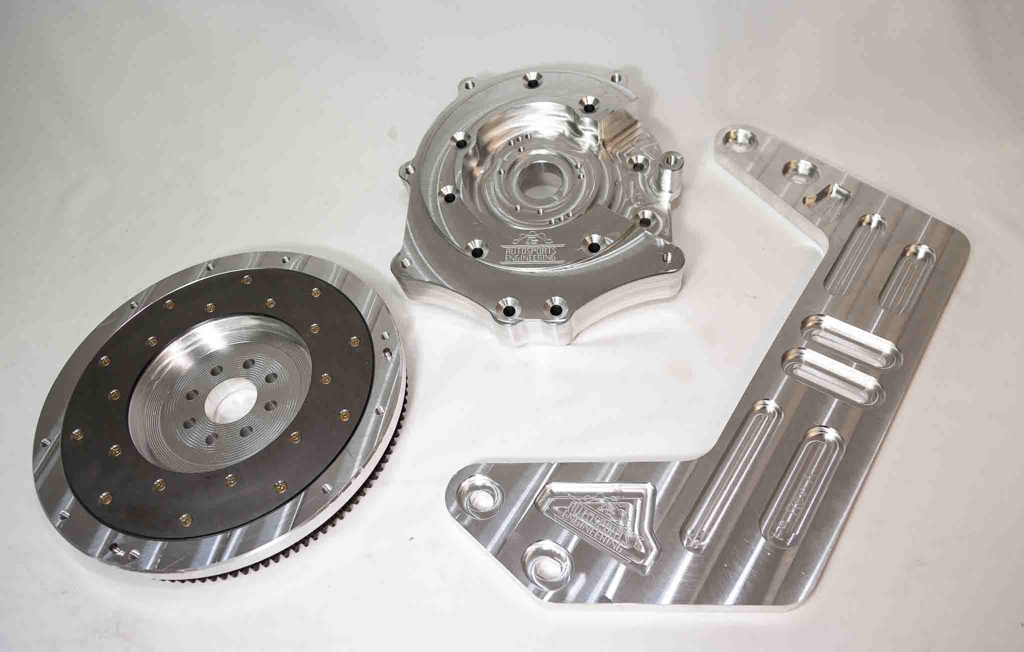Autosports Engineering 2JZGTE 2JZ 1JZ 2JZGE Engine to 350Z CD009 6-speed  Transmission Adapter - Package