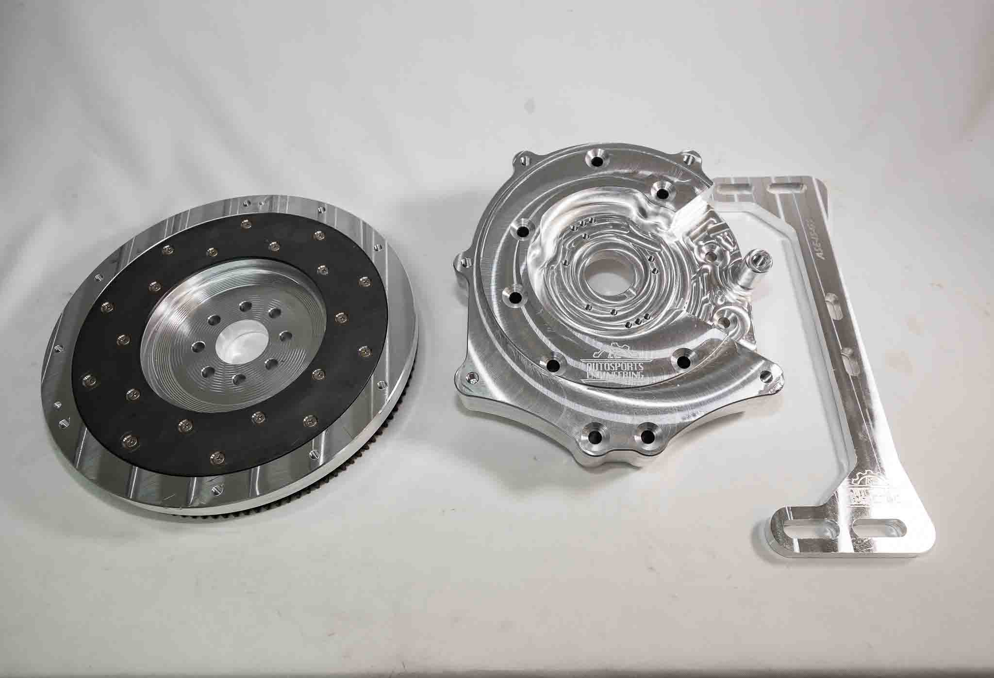 Autosports Engineering 2JZGTE 2JZ 1JZ 2JZGE Engine to 240SX S13 CD009  6-speed Transmission Adapter - Package